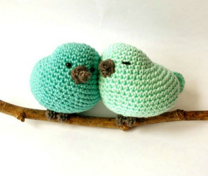 Crochet birds decoration - Crochet on a tree