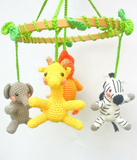 Jungle baby mobile - Crochet on a tree