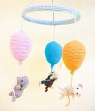 Balloons baby mobile - Crochet on a tree