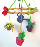 Cactus baby mobile - Crochet on a tree