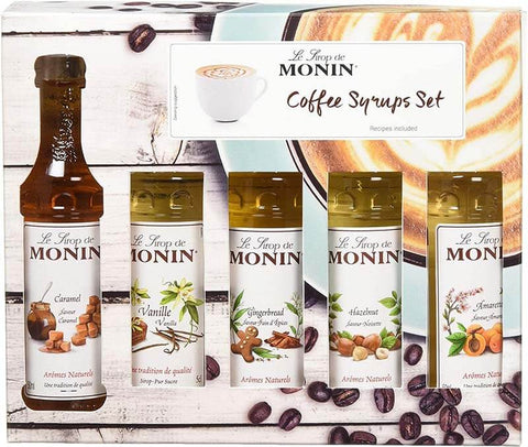 Monin Syrup Coffee Gift Set 5x5cl
