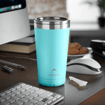16oz Stainless Steel Coffee Cup - Aqua