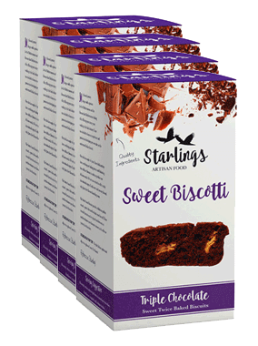 Triple Chocolate Biscotti