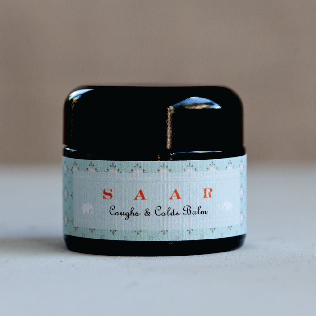 organic coughs & colds balm - SAAR SOLEARES