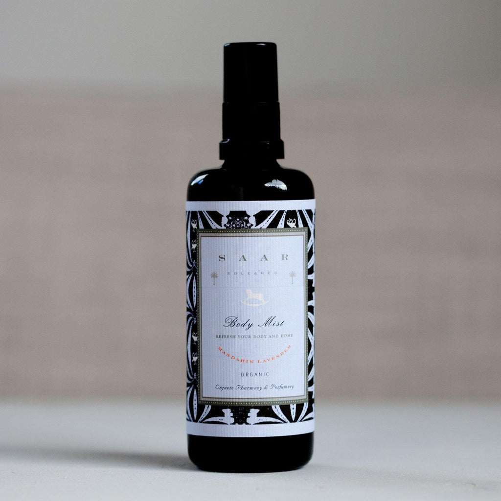 Mandarin Lavender Organic Body Mist : natural hydrating body spray