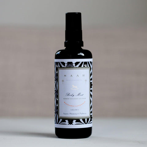 Saar Soleares Mandarin Lavender Organic Body Mist : natural hydrating body spray