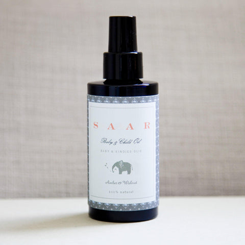 Saar Soleares organic baby & child oil : with natural baltic amber