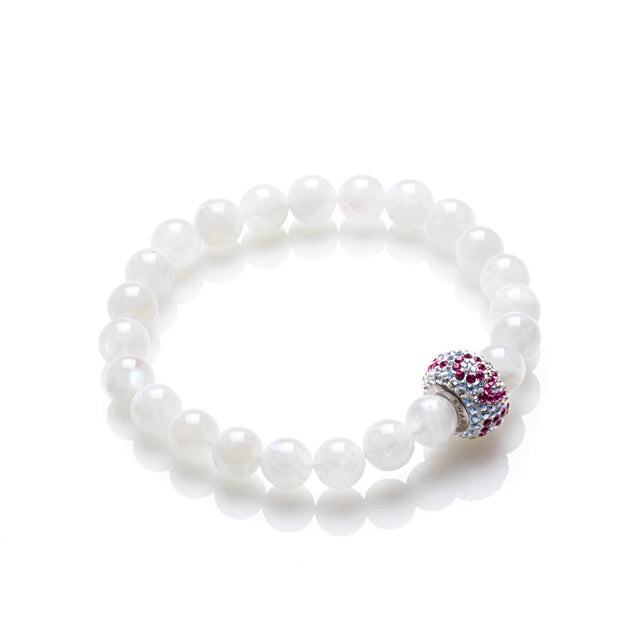 Moonstone Love Bracelet with Swarovski Love Bead