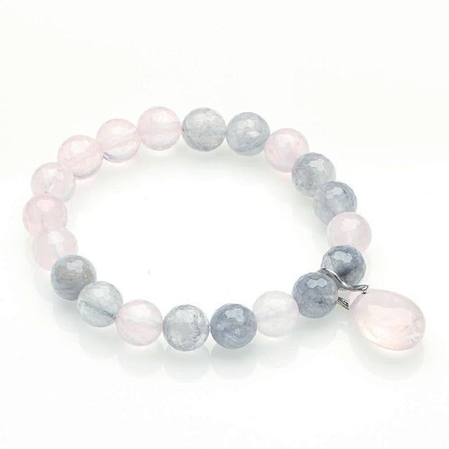 Labradorite with Rose Quartz Love Bracelet