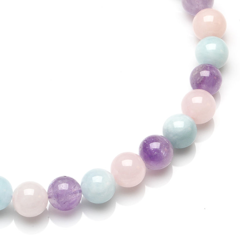 Aquamarine, Amethyst and Rose Quartz Choker