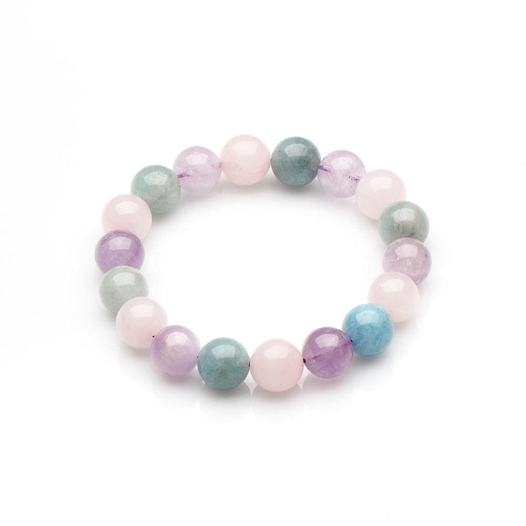 Aquamarine, Amethyst and Rose Quartz Bracelet