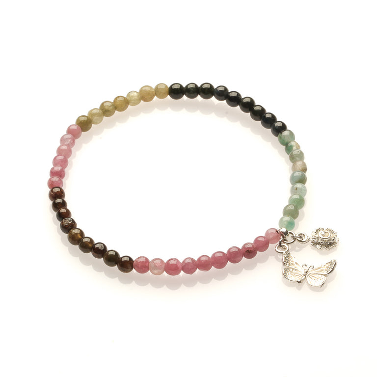 WATERMELON TOURMALINE FOR LOVE AND CAREER LUCK BRACELET