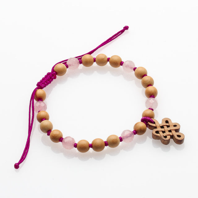Rose Quartz With Mystic Knot Bracelet