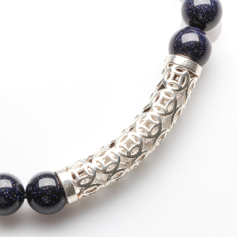 BLUE SANDSTONE WEALTH AND SUCCESS BRACELET