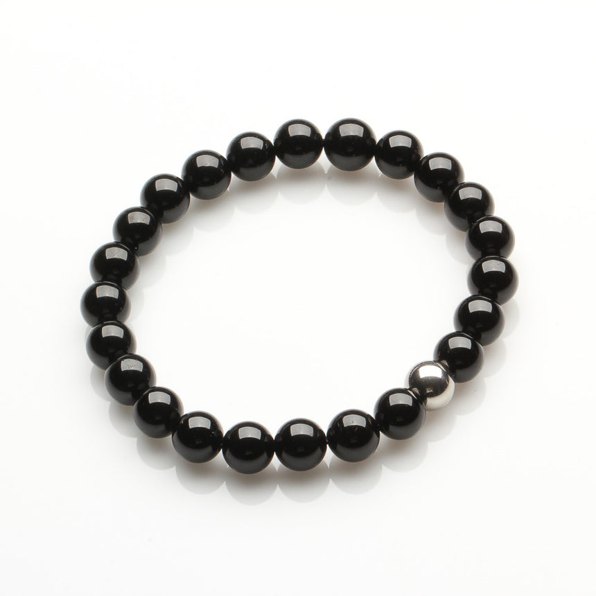 Black Tourmaline Grounding and Protection Bracelet for Men