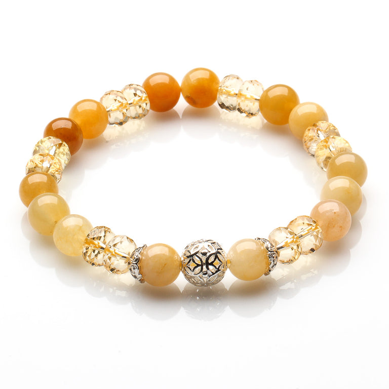 CITRINE AND YELLOW JADE WEALTH, ABUNDANCE AND JOY BRACELET