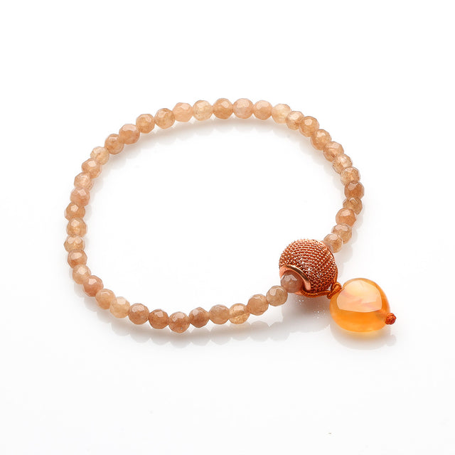 AGATE AND CARNELIAN BRACELET FOR WOMEN