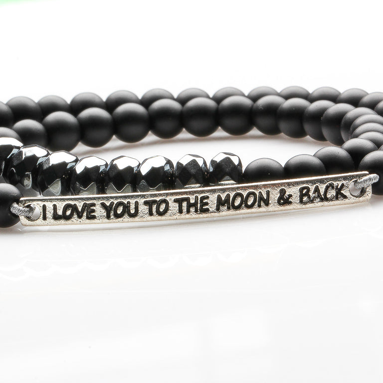 I Love U to the Moon & Back (Man's Bracelet)