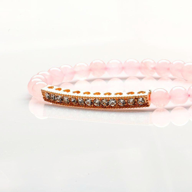 ROSE QUARTZ LOVE BRACELET