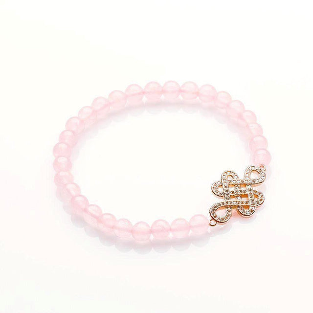 ROSE QUARTZ ETERNAL LOVE AND GOOD FORTUNE BRACELET