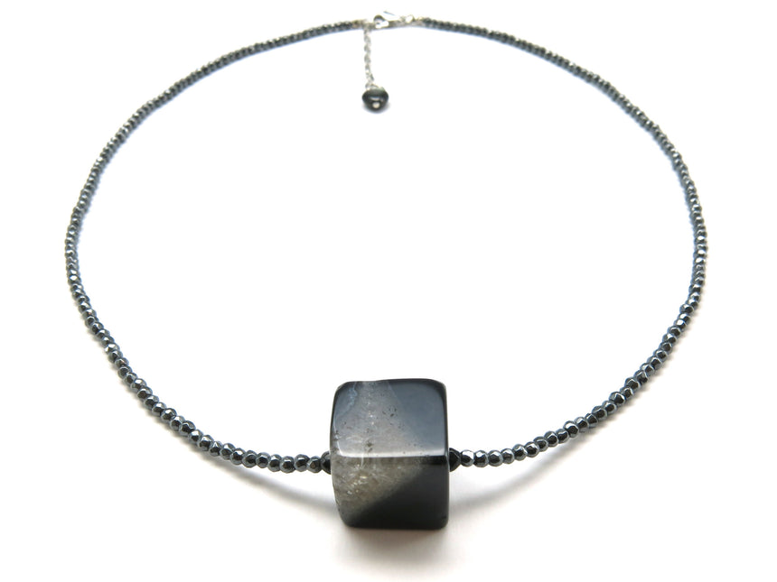 Hematite Agate Necklace