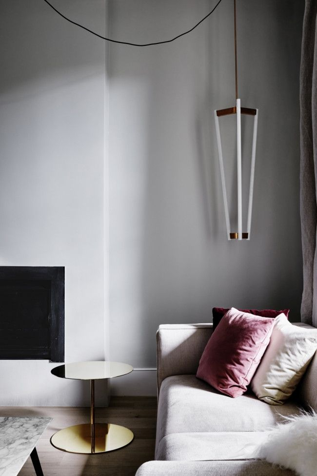 Pale Pink Brings A Restrained Dose Of Colour To A Cream Sofa, As In The  Home Of Jacob Holm.