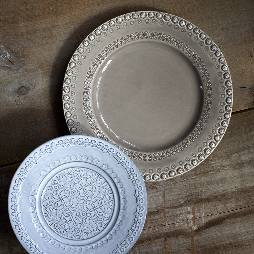 large beige plate