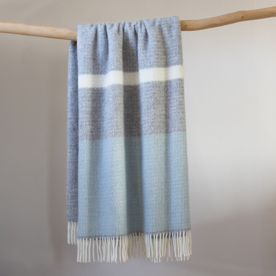 duck egg blue throw