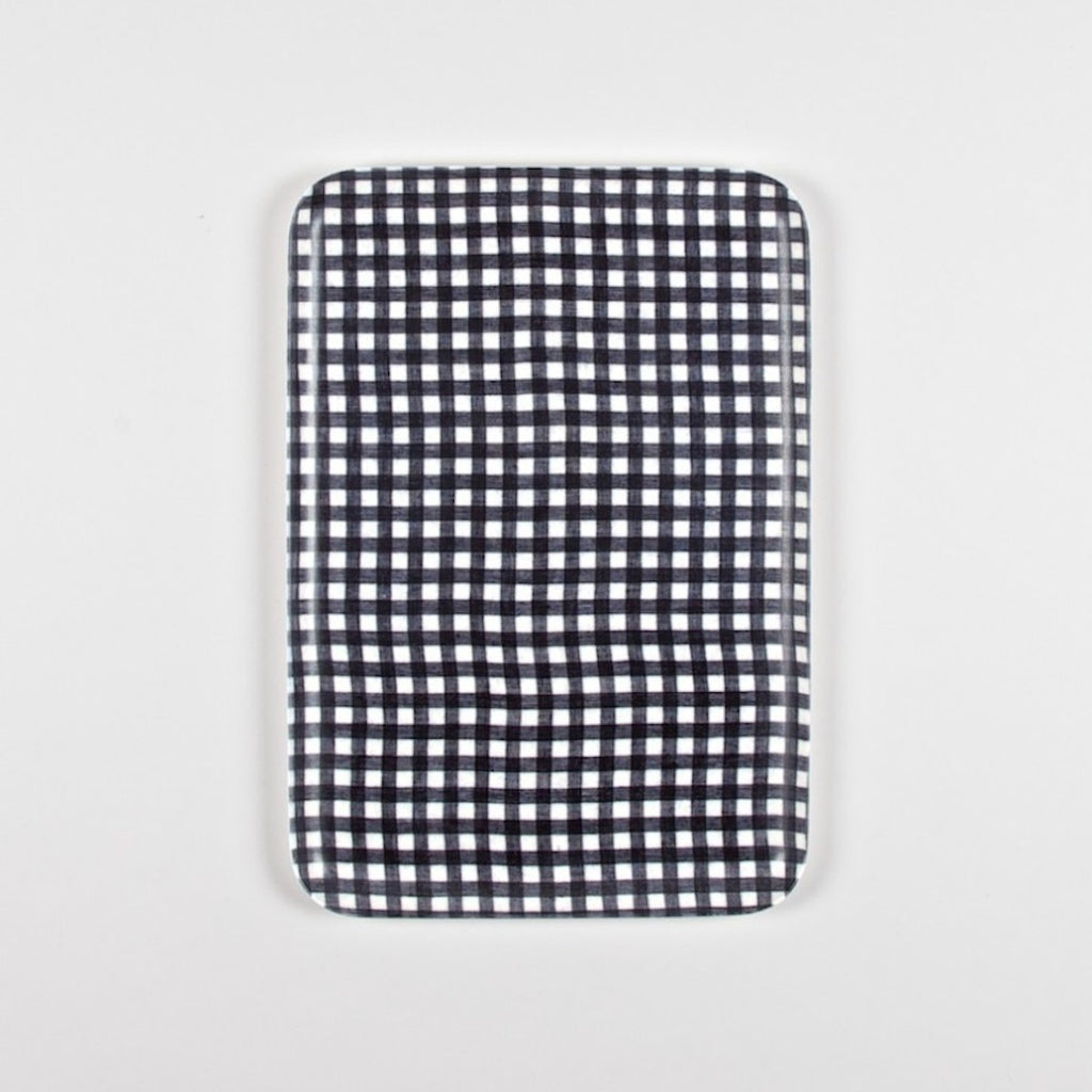 Fog Linen Work Tray check / gingham