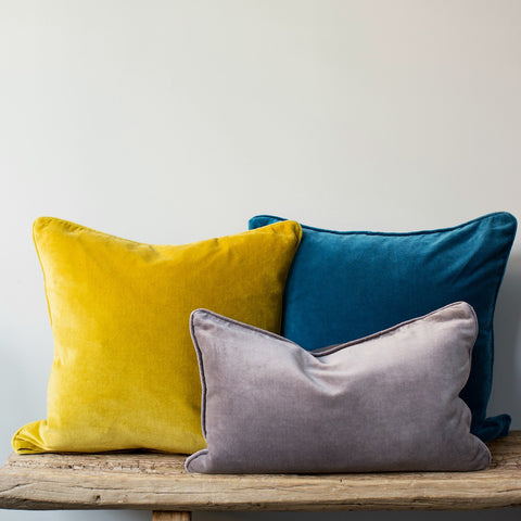 Velvet Cushion With Piping Homeaddress