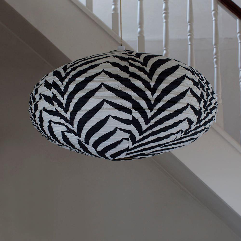 zebra print ceiling light