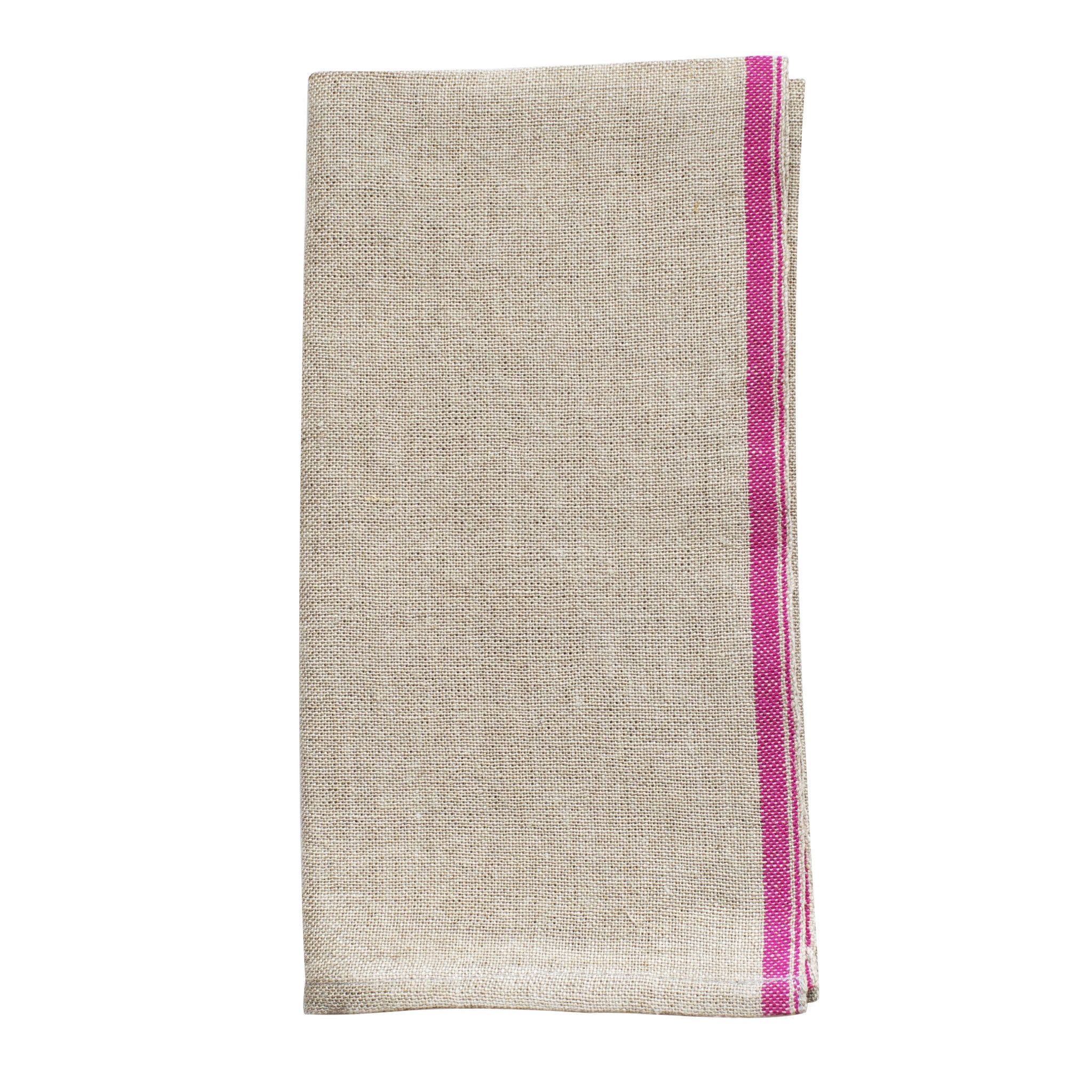 Lovely Hand Woven Linen Napkin with Coloured Selvedge | HomeAddress TN44