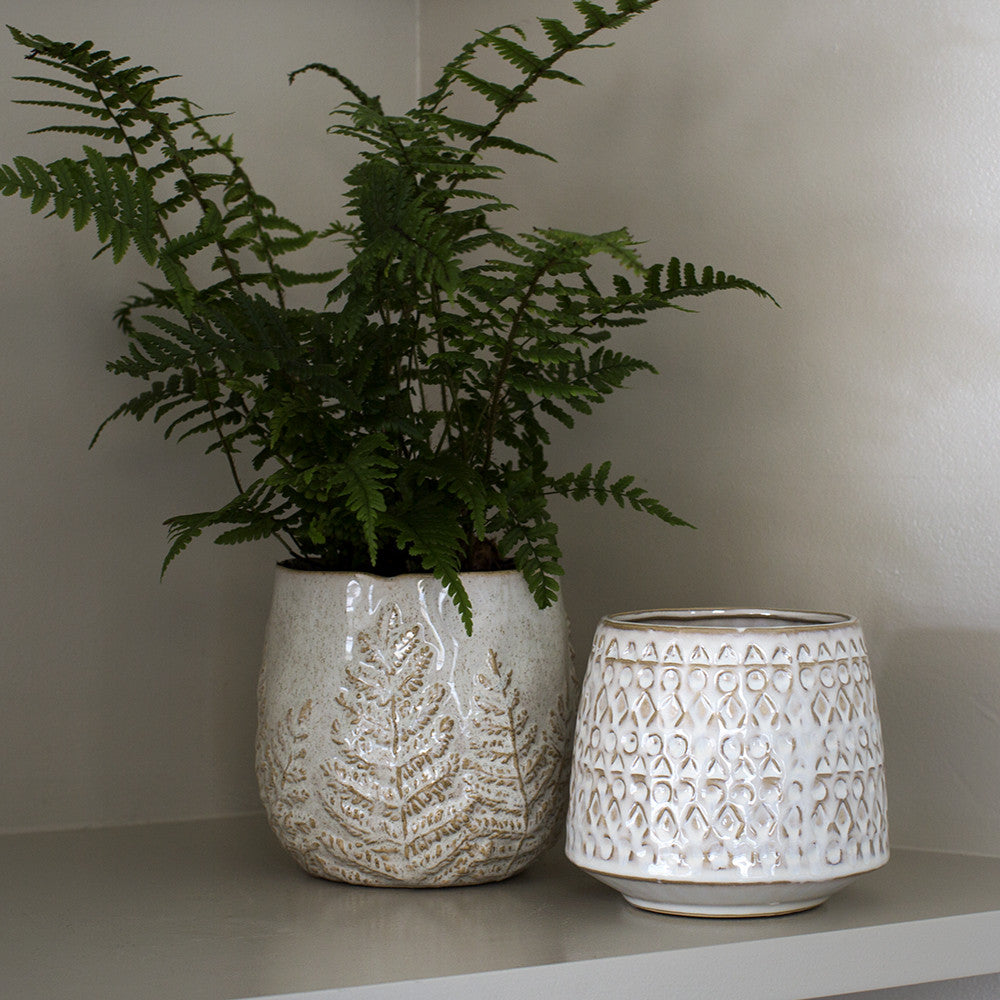cream indoor planter