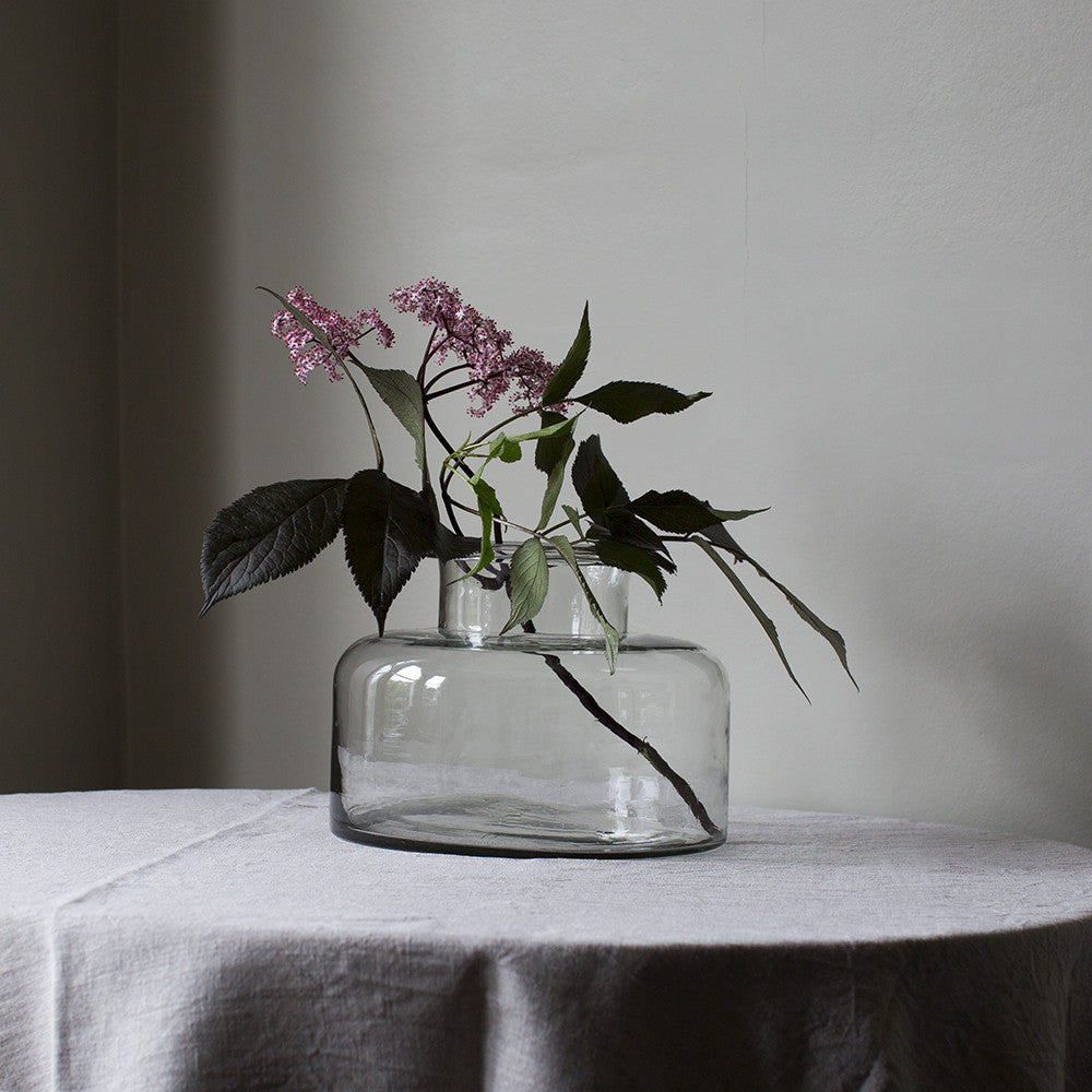 Wide glass vase - OUT OF STOCK