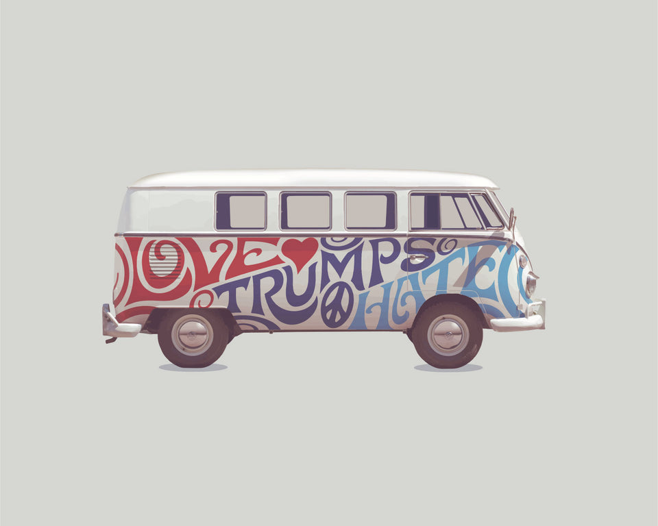 1966 VW Bus 'Love Trumps Hate'