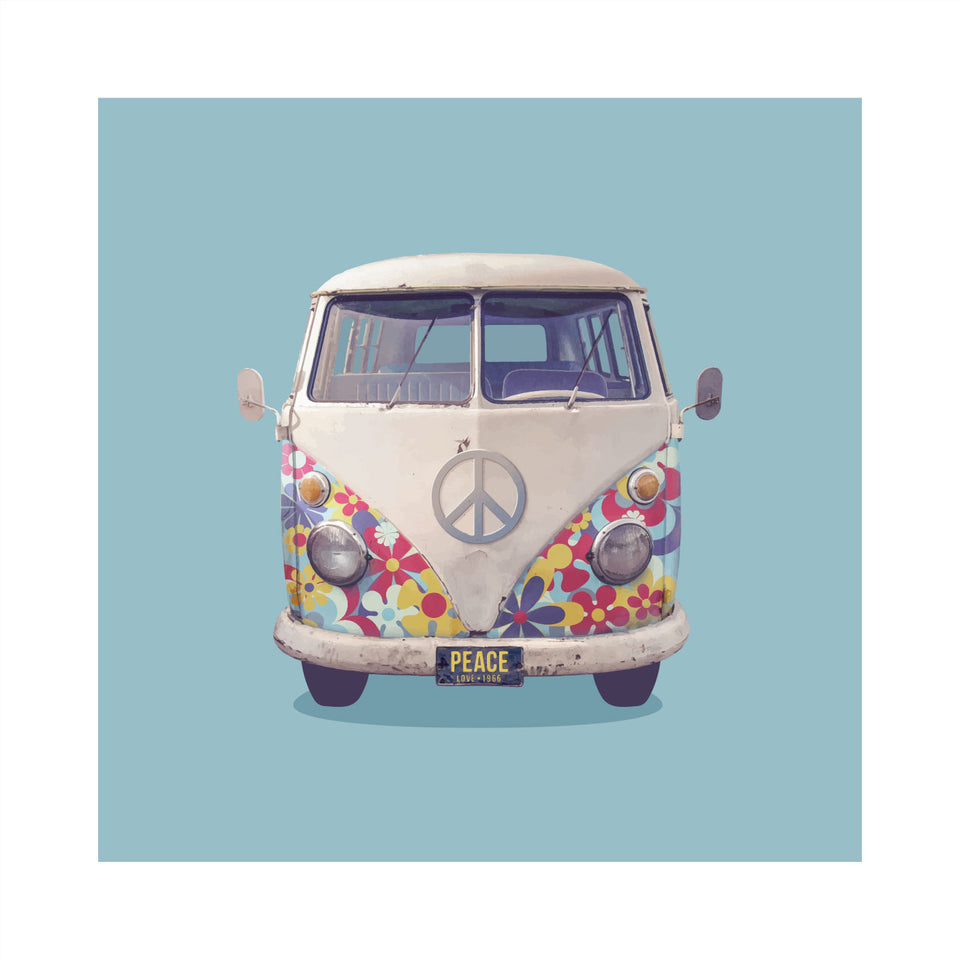 1966 VW 'Flower Power' Bus