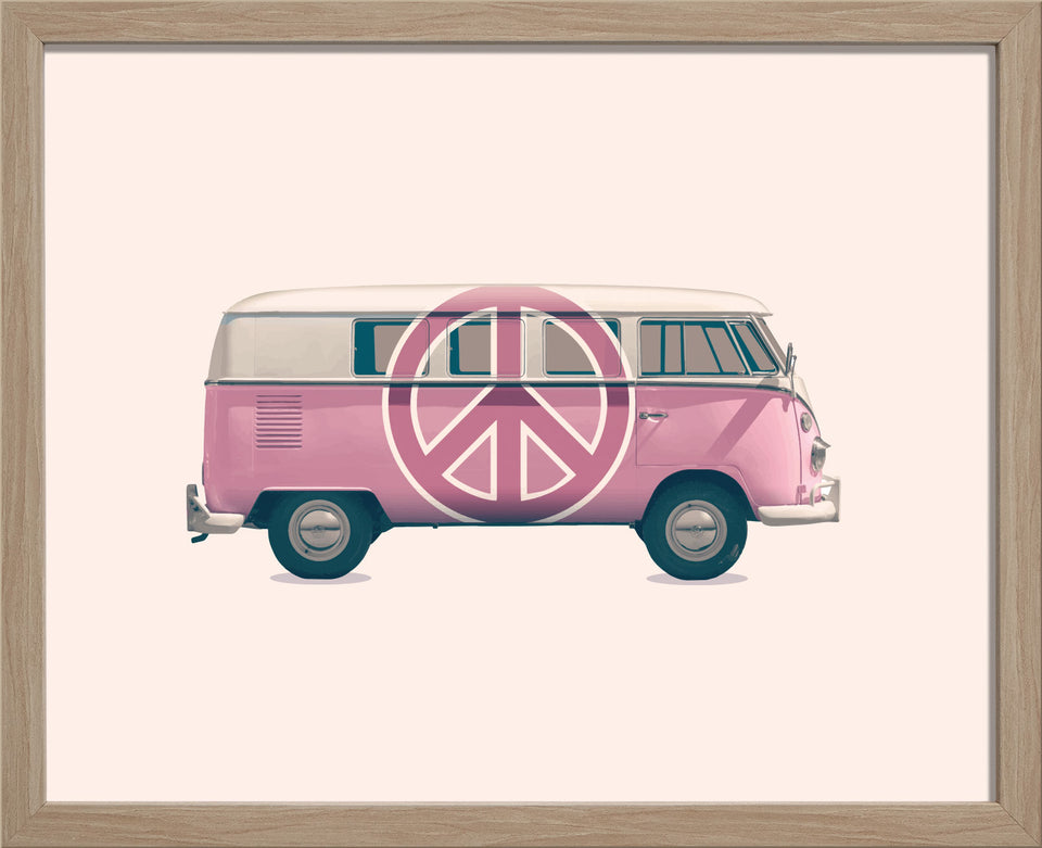 1966 VW Kombi Pink Peace Bus