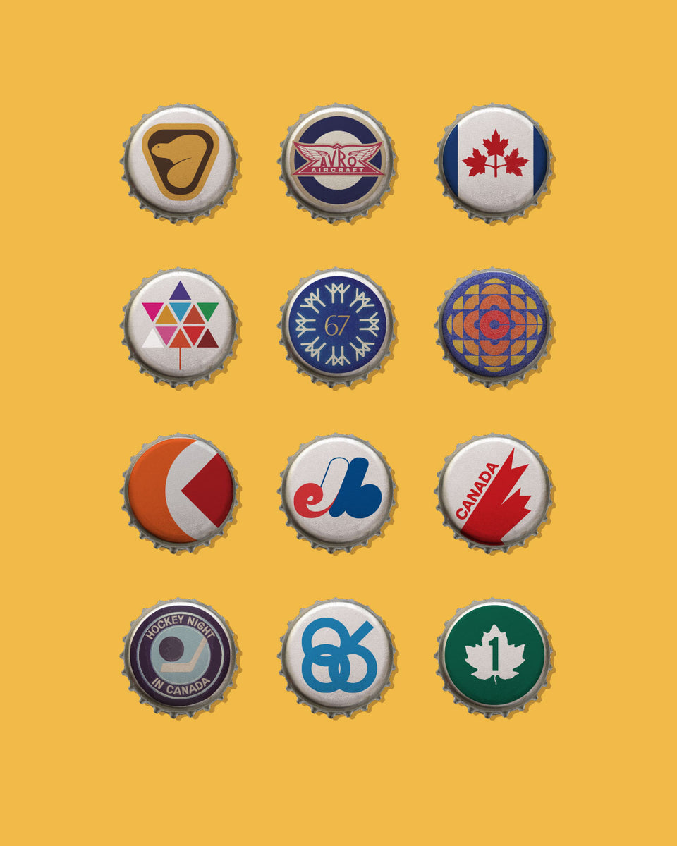 Retro Logo Beer Caps