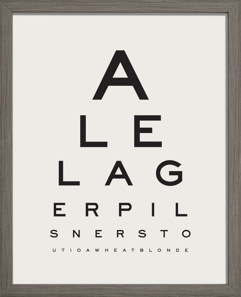 'Beer Goggles Eye Chart'