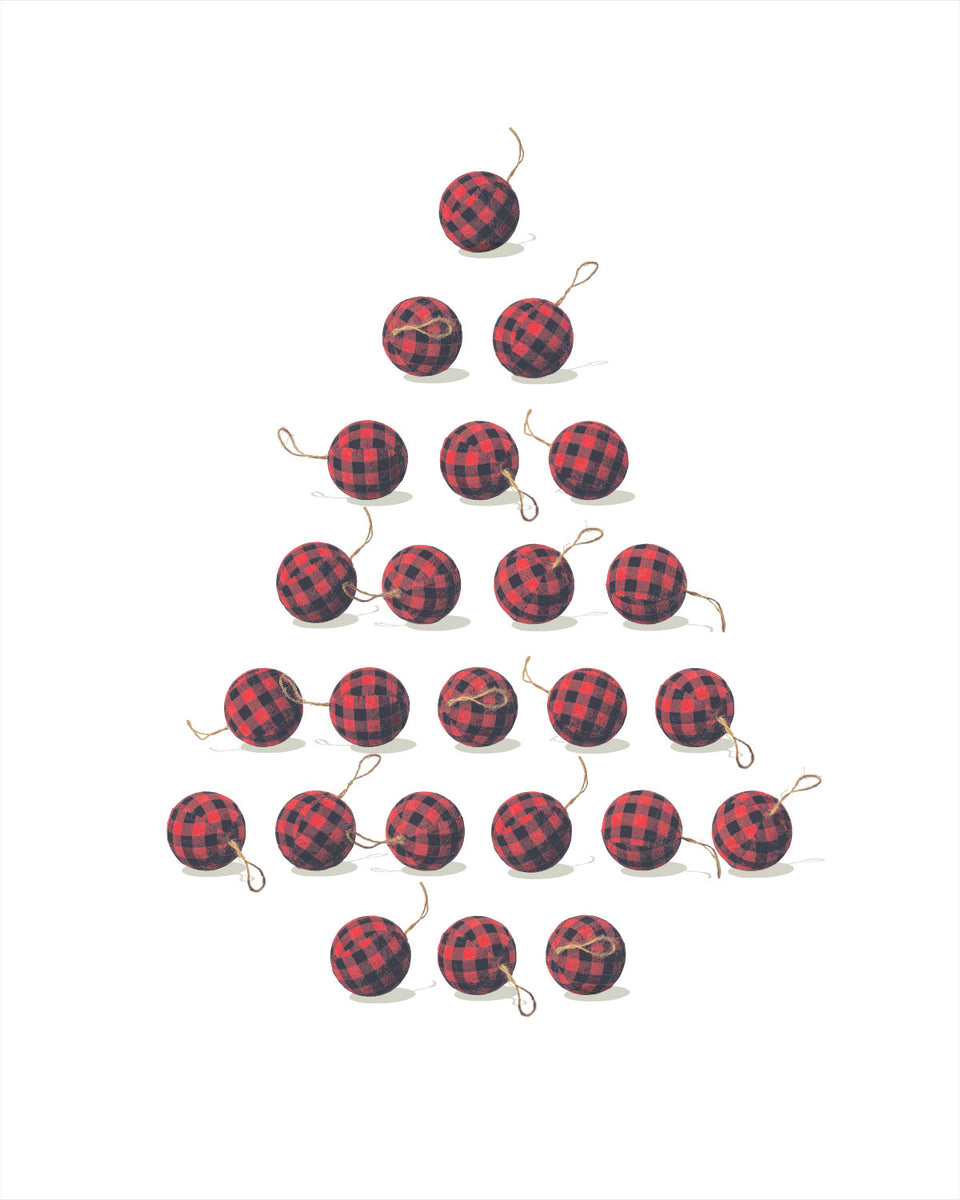 Christmas Tree Plaid Ornaments