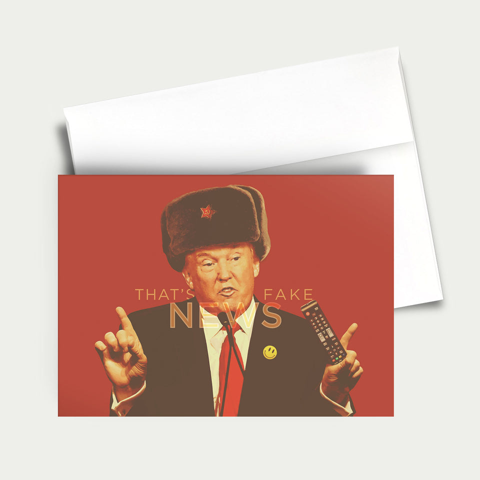 Greeting Card: Donald Trump-Fake News