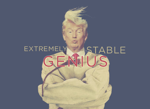 Greeting Card: Donald Trump-Stable Genius
