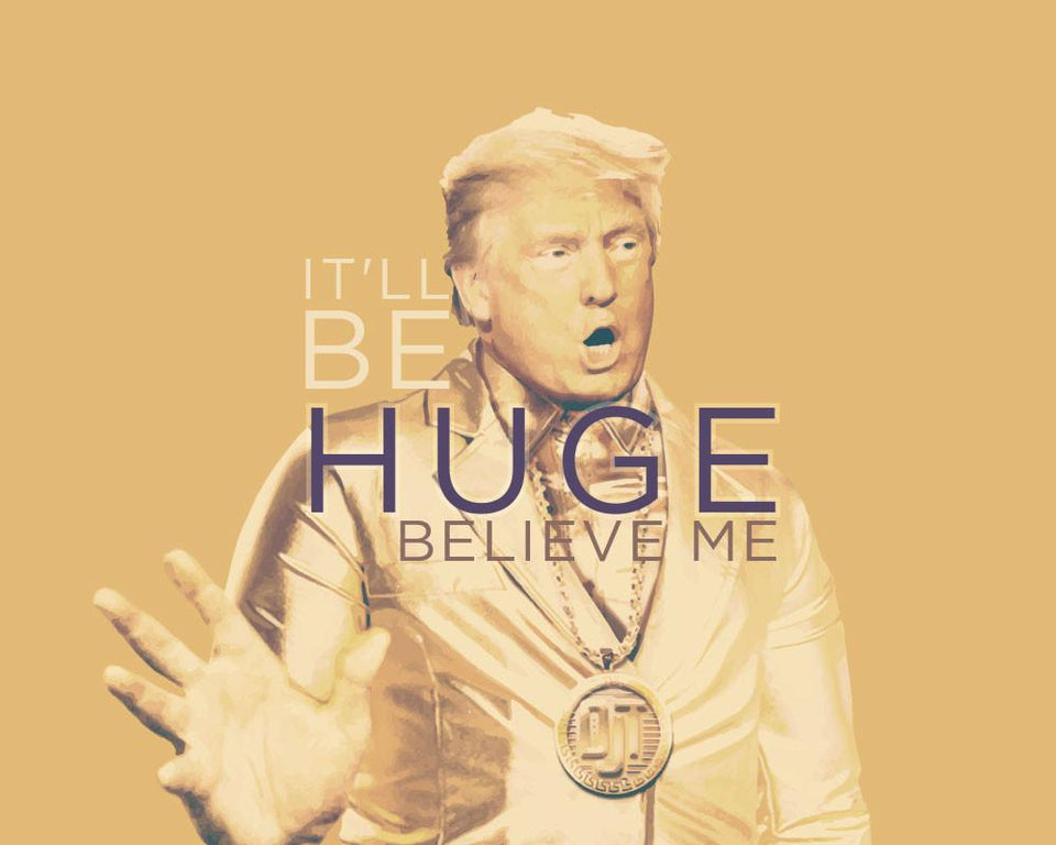 Greeting Card: Donald Trump-Huge