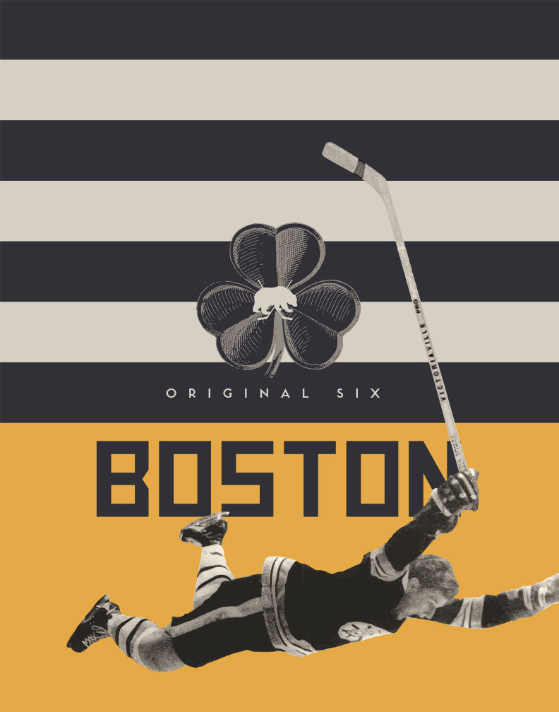 Greeting Card: NHL Original Six-Boston Bruins