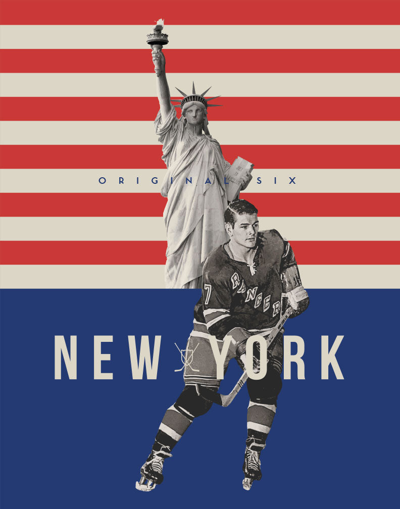 Greeting Card: NHL Original Six-New York Rangers
