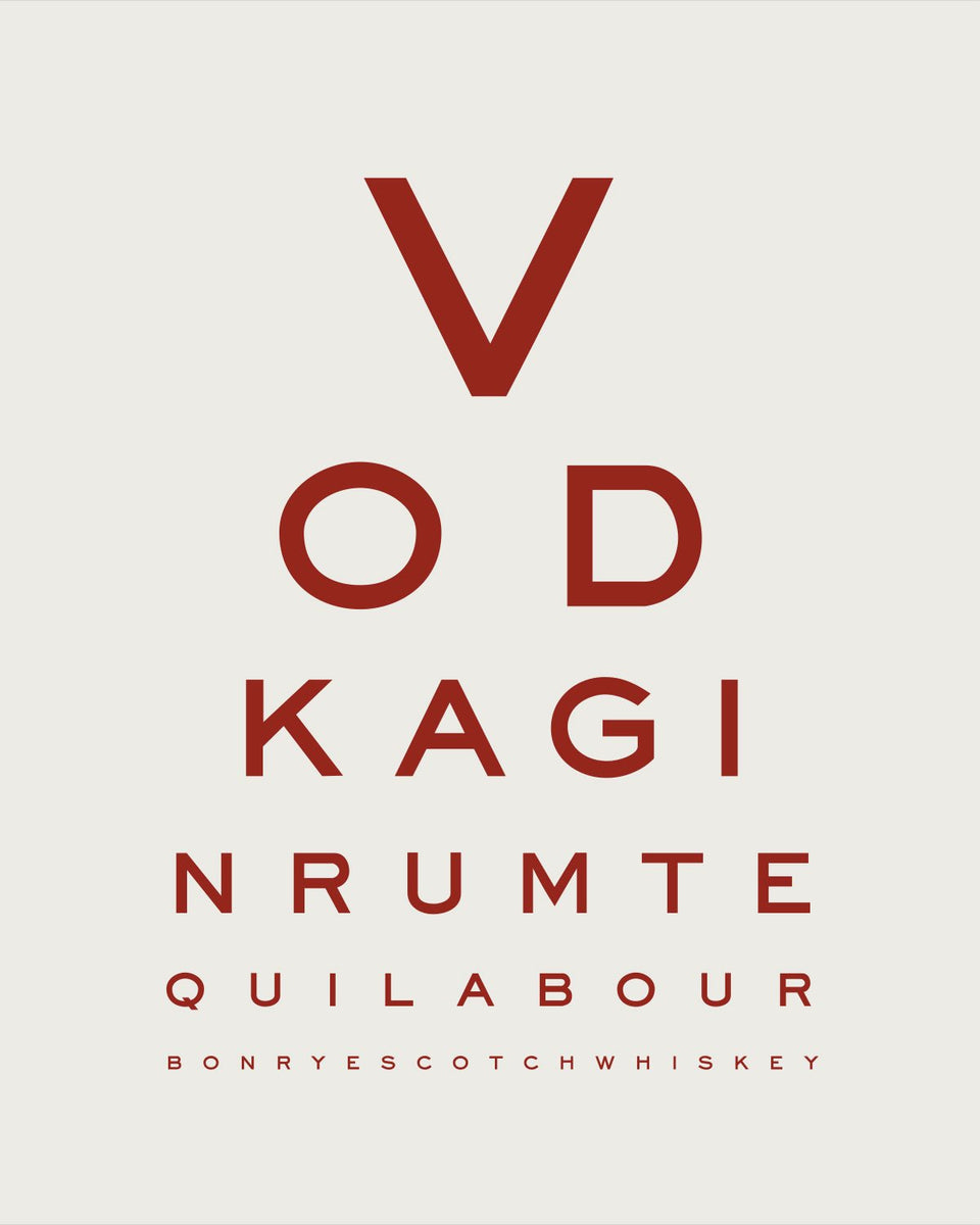'Liquor Goggles' Eye Chart
