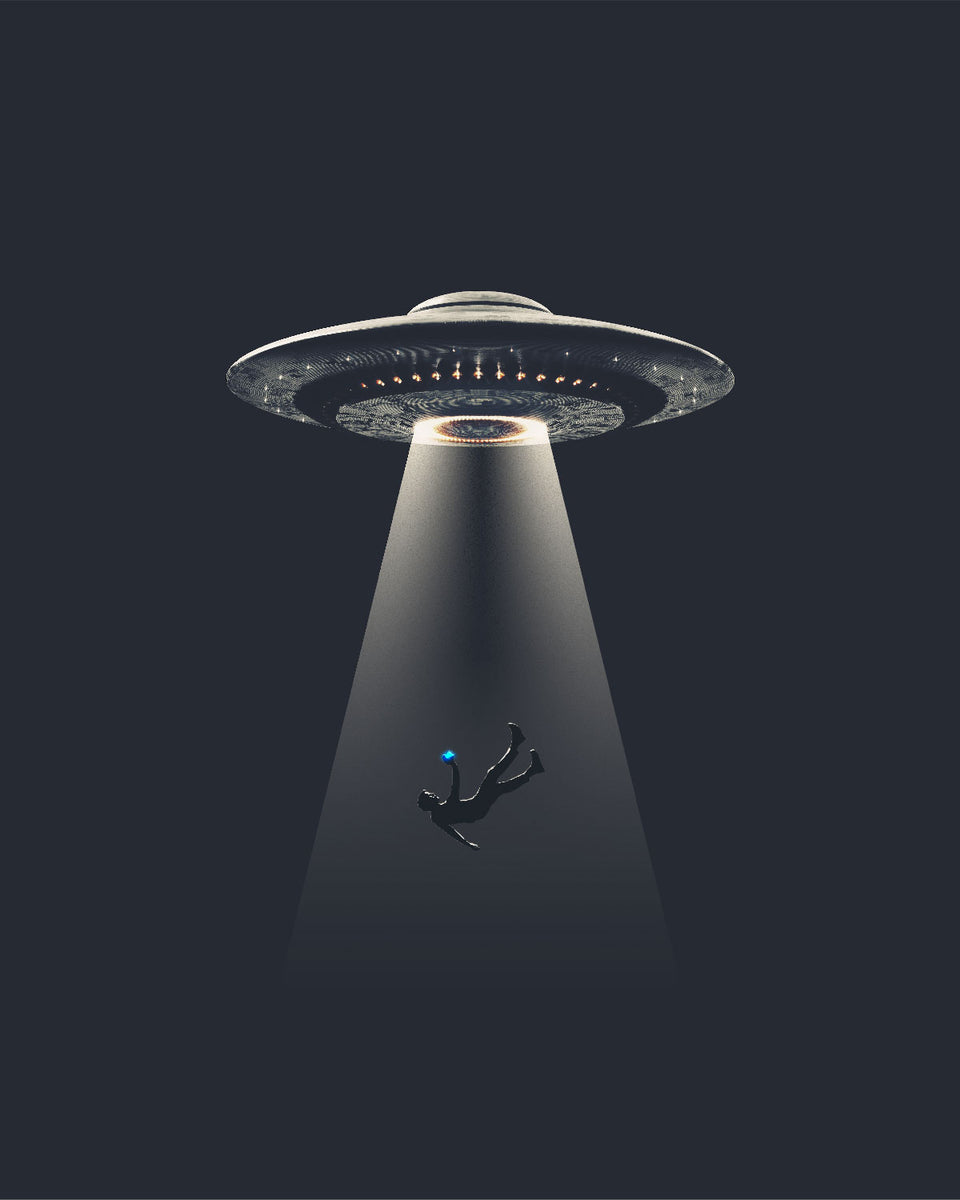 Livestreaming Your UFO Abduction Art Print
