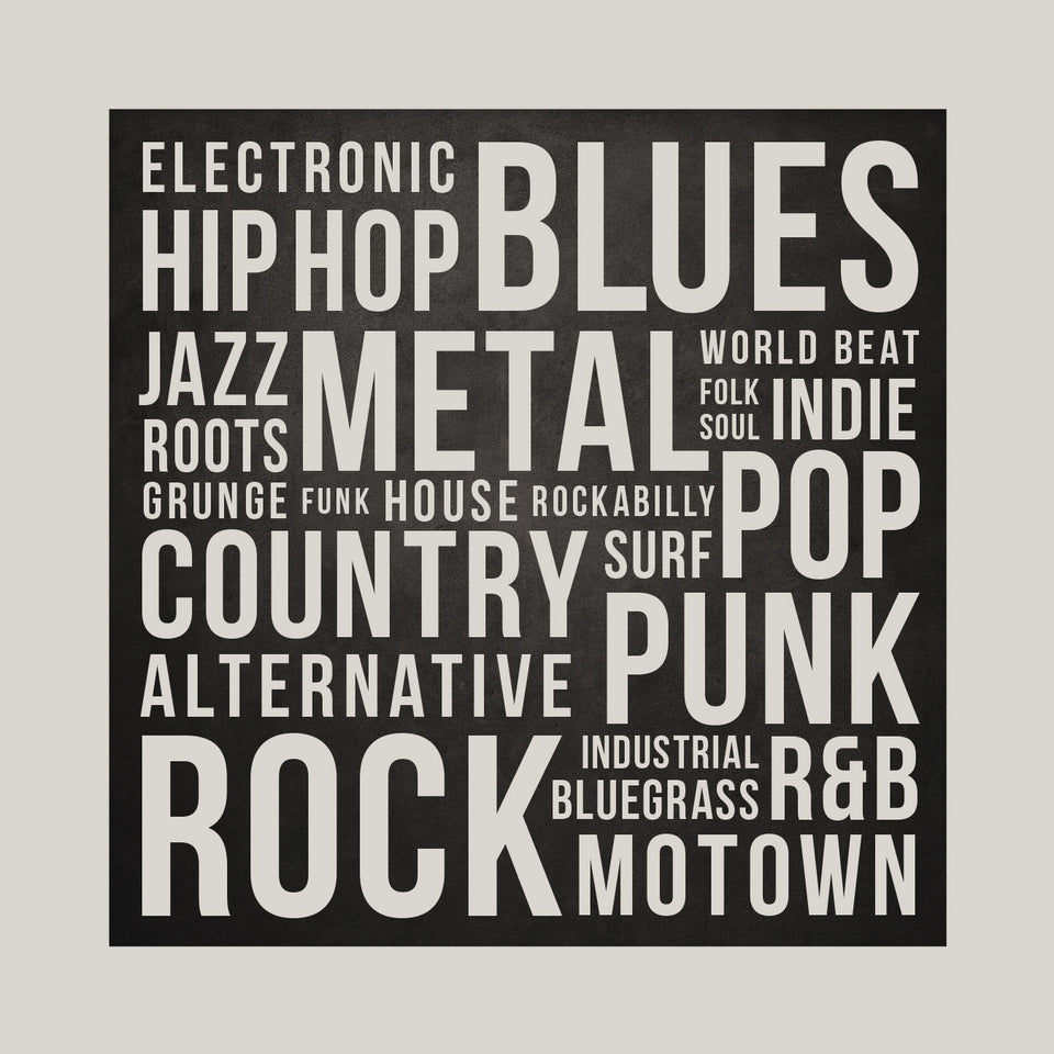 Music Genres Art Print