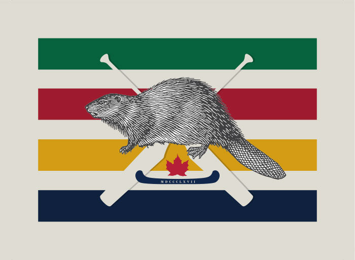 Greeting Card: 1867 Hudson Bay Beaver