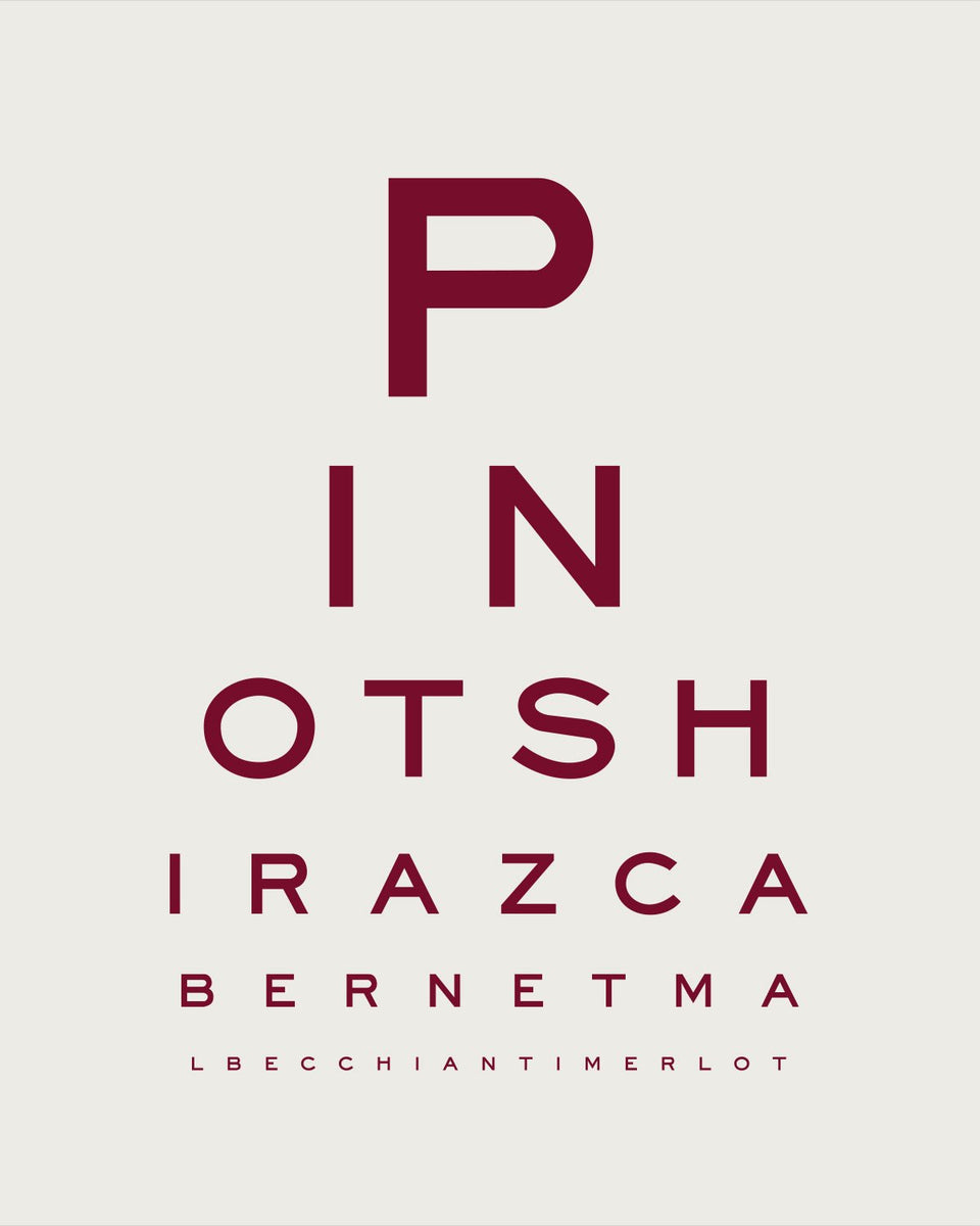 'Red Wine Goggles' Eye Chart
